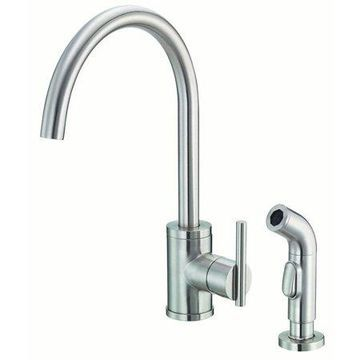 Danze Parma Single Handle Kitchen Faucet with Side Spray, Stainless Steel