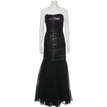 Strapless Long Dress w/ Tags Black