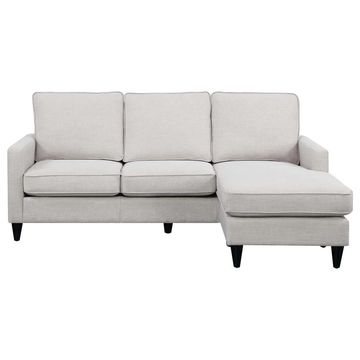 Picket House Furnishings Nori Reversible Chaise Sectional in Taupe