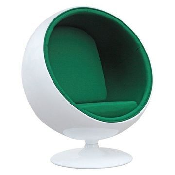Fine Mod Imports Ball Chair, Green