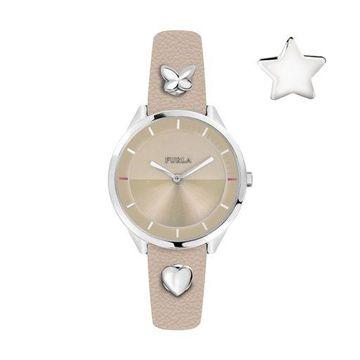 Furla Womens R4251102540 Pin Beige Dial Beige Leather Wristwatch