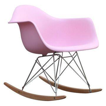 Fine Mod Imports Rocker Armchair, Pink