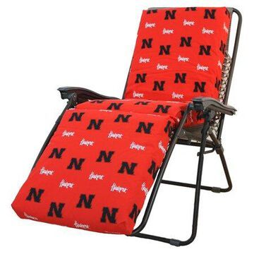 College Covers NCAA Nebraska Outdoor Chaise Lounge Cushion