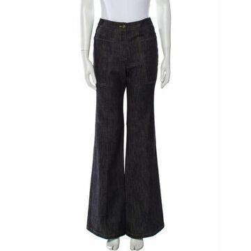 Mid-Rise Wide Leg Jeans w/ Tags Blue