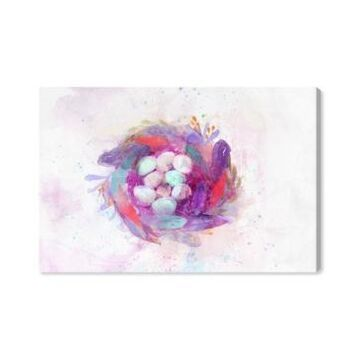 Oliver Gal Boho Feather Nest Canvas Art - 10