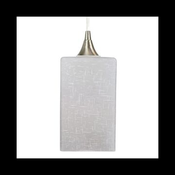 """Craftmade PN903WL-W Hue Pendant 5"""" Wide LED Mini Pendant with Patterned Glass Shade and Hue Bulb Polished Nickel Indoor Lighting Pendants"""