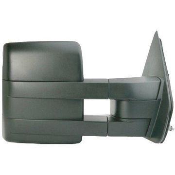 61187F - Fit System Passenger Side Towing Mirror for 04-14 Ford F150 extendable, textured black, foldaway, Manual