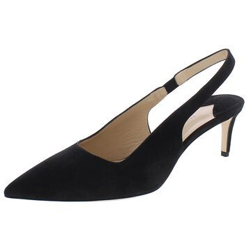 Paul Andrew Womens Coquette 55MM Slingback Heels Suede Stretch - Black