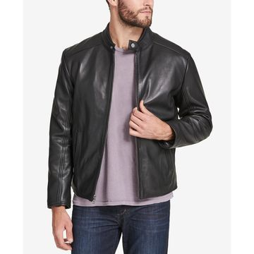 Men's Leather Moto Jacket, Created for Macy's