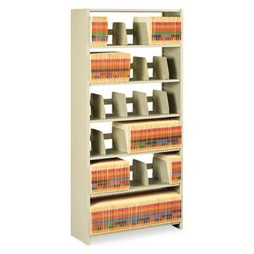 Tennsco 1276PCSD Snap-together Steel Six-shelf Closed Starter Set, 36w X 12d X 76h, Sand