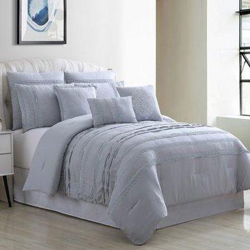 Pacific Coast Textiles 8 Piece Embellished Comforter Set - Macarena, King