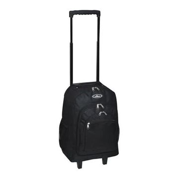 Everest Wheeled Pattern Backpack Black - US One Size (Size None)