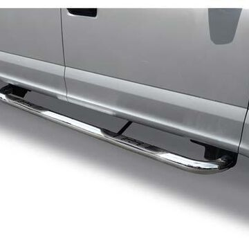 """Go Rhino 3"""" 4000 Series Round Nerf Bars in Polished Stainless Steel"""