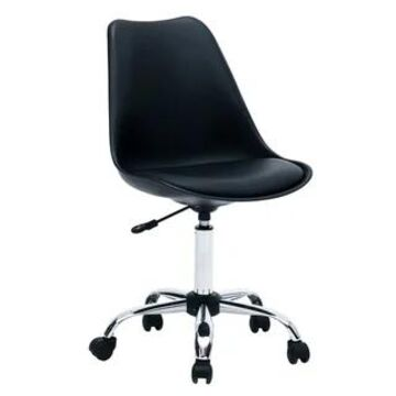 Porthos Home Yui Armless Office Chair, Height Adjustable Swivel Seat
