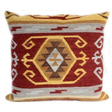 Bashian Stanton Red Pillow, 2'x2'