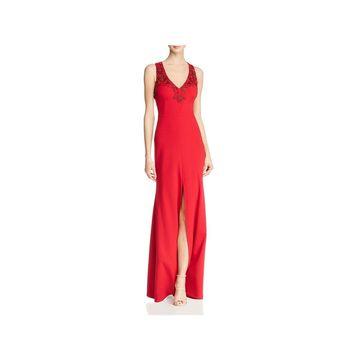 Aidan Mattox Womens Formal Dress Embellished Halter