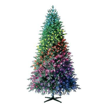7.5Ft Pre-Lit Laurel Pine Artificial Christmas Tree, Multicolor Twinkly LED Lights by Ashland   Michaels