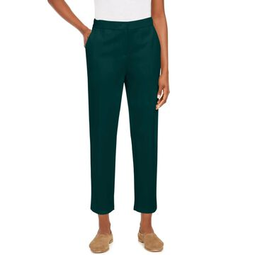 Eileen Fisher Womens Petites Ankle Pants Slouchy High Rise - Navy - PP/PTP