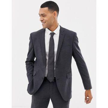 Esprit slim fit commuter suit jacket in gray check