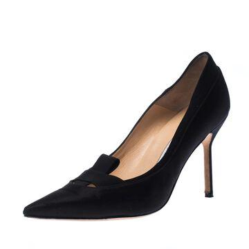 Manolo Blahnik Black Suede Heels