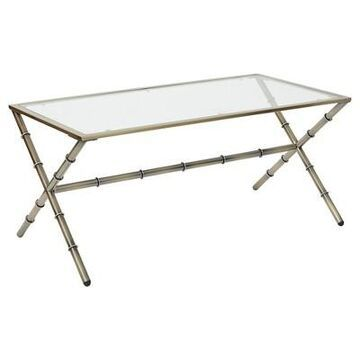 Lanai Coffee Table - Antique Brass - Office Star Products