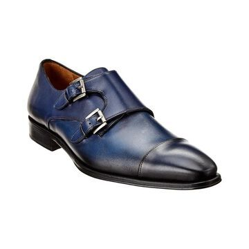 Mezlan Double Monk Leather Loafer