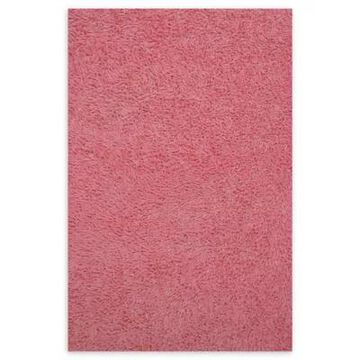 Fun Rugs 4-Foot 3-Inch X 6-Foot 6-Inch Chenille Cotton Shag Area Rug In Pink
