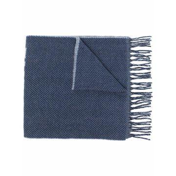 Emporio Armani Scarfs Blue