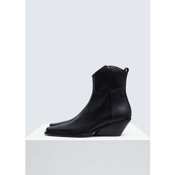 Ann Demeulemeester Women's Pointed Toe Ankle Boot in Black Size 40 Leather