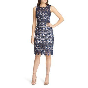 Eliza J Womens Lace Sleeveless Cocktail Dress