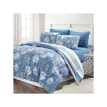 Pacific Coast Textiles Blair Stripe 6-pc. Reversible Comforter Set