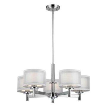 Dolan Designs Double Organza, Five Light Chandelier