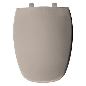 Bemis 1240205 443 Plastic Elongated Toilet Seat, Innocent Blush
