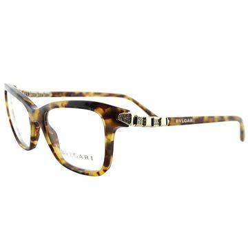 Bvlgari Rectangle BV 4088B 3516 Women Havana Frame Eyeglasses