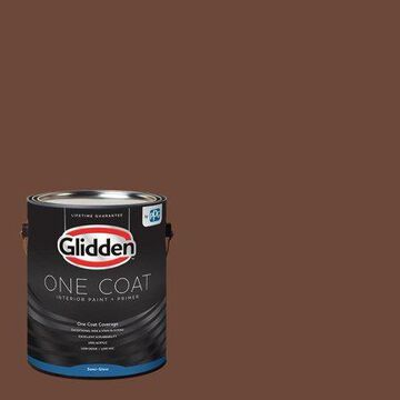 Glidden One Coat Interior Paint and Primer, Ghost Writer/Beige, 1 quart, Semi-Gloss