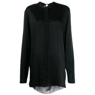open-back draped shirt