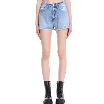 Haikure Nevada Shorts In Cyan Denim