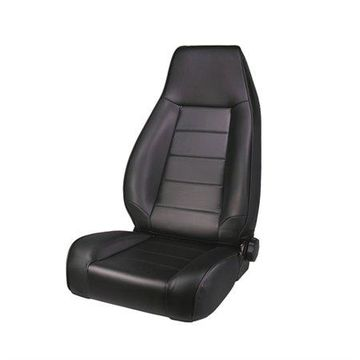 Rugged Ridge High-Back Front Seat - Reclinable - Black Denim - Fits with 1976-2002 Jeep CJ5-7 / Jeep Wrangler /