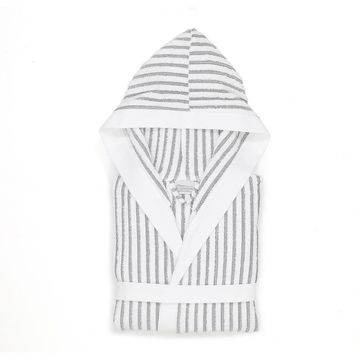 Linum Home Textiles Terry Stripe Hooded Bathrobe