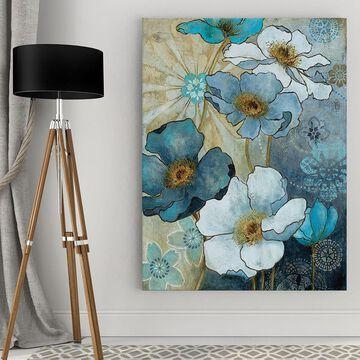Wexford Home Carol Robinson 'Blue Denim Garden I' Canvas Wall Art