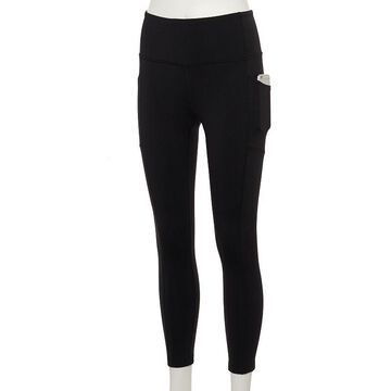 Women's Tek Gear High-Waisted Shapewear Leggings, Size: Small Short, Black