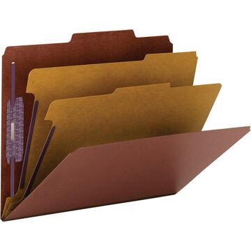 Smead PressGuard Classification Folders with SafeSHIELD Coated Fastener Technology - Letter - 11 3/4