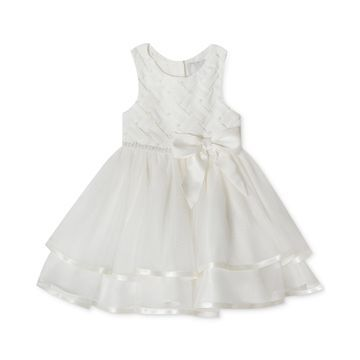 Baby Girls Tiered Pearl Dress