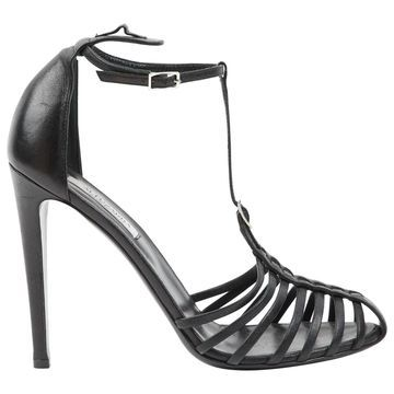 Altuzarra Black Leather Sandals