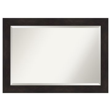Amanti Art Espresso Bathroom Vanity Wall Mirror
