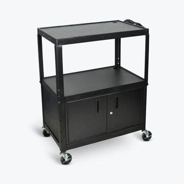 Luxor 42-in 1-Drawer Cabinet Utility Cart in Black | AVJ42XLC