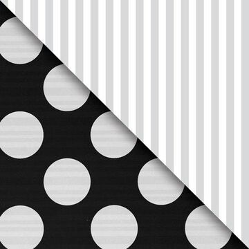 JAM Paper Industrial Size Bulk Wrapping Paper Rolls, Two,Sided Black & Silver, 1/2 Ream (1042.5 Sq Ft), Sold Individually