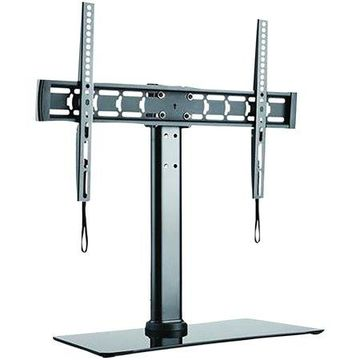 STANLEY TTL6644TS 32-Inch to 70-Inch Adjustable Tabletop TV Stand with Glass Base