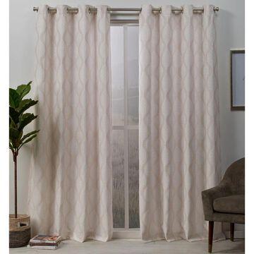 ATI Home Stark Medallion Textured Grommet Top Curtain Panel Pair