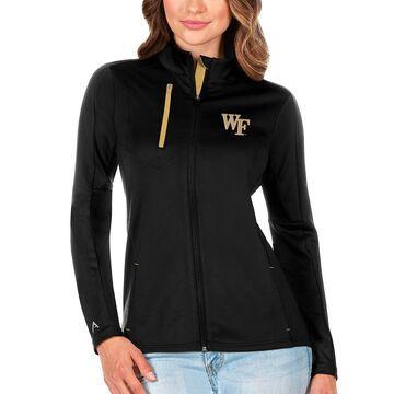 Wake Forest Demon Deacons Antigua Women's Generation Full-Zip Jacket - Black/Gold